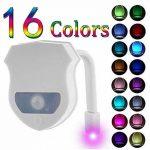 KINO Lampe de Toilette Veilleuse LED pour WC/Salle de Bain Capteur Détecteur PIR 16 Changement de Couleurs Éclairage de la marque KINO image 1 produit