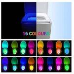 KINO Lampe de Toilette Veilleuse LED pour WC/Salle de Bain Capteur Détecteur PIR 16 Changement de Couleurs Éclairage de la marque KINO image 3 produit