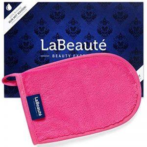 La Beauté – Gant démaquillante hypoallergénique – Gant en microfibre - Nettoyage et soin du visage à l'eau – 20 x 13 cm, rose de la marque LaBeauté image 0 produit