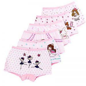 LeQeZe De 6 Bébé Fille Panty Culotte Filles Shorty Enfants Coton Boxer Slip Pantalon sous-Vêtement 2-11 Ans de la marque LeQeZe image 0 produit