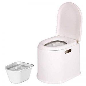 LI JING SHOP - Chaise de toilette portative Vieil homme avec des femmes enceintes enfant mobile en plastique Prendre un tabouret ( Couleur : Blanc , taille : #-001 ) de la marque Toilet chair image 0 produit