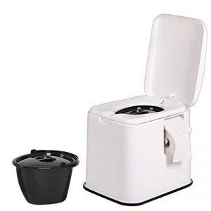 LI JING SHOP - Siège de toilette portatif chaises de toilette siège de toilette peut se déplacer antidérapant Bottom pour les femmes enceintes enfant Old 39.5X48.5X43.5cm Couleur: Blanc, kaki ( Couleur : Blanc , taille : #-004 ) de la marque Toilet chair image 0 produit