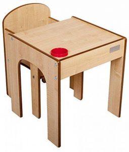 Little Helper en semble Bureau et Chaise en Bois pour Enfants avec Pot à Crayons/Pinceaux Funstation de Little Helper Bois Naturel de la marque Little Helper image 0 produit