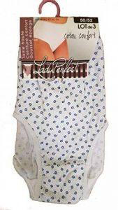 Lot de 3 culottes coton confort taille haute ceinture confort gousse éponge assorties couleurs selon arrivage de la marque Lady Perfect image 0 produit