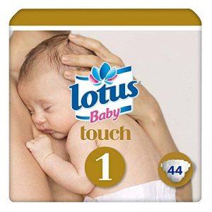 Lotus Baby Touch - Couche Taille 1 (2-5 kg/NouveauNé) - Lot de 2 paquets de 44 couches (88 couches) de la marque lotus-Baby image 0 produit