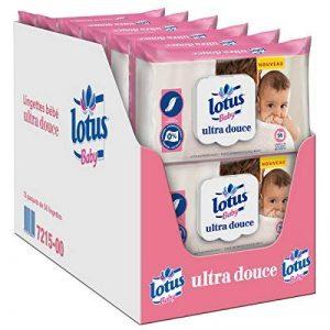 Lotus Baby Ultra Douce - Lingette bébé - 12 paquets de 56 lingettes de la marque lotus-Baby image 0 produit