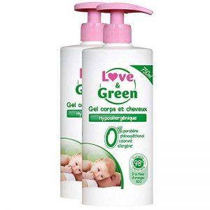Love & Green - Gel pour Corps/Cheveux Hypoallergénique 750 ml - Lot de 2 de la marque Love & Green image 0 produit