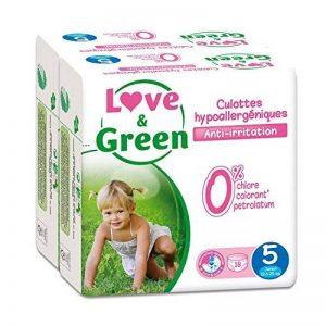 Love & Green - Pack de 18 Culottes Hypoallergéniques - Taille 5 (12-25 kg) - Lot de 2 de la marque Love & Green image 0 produit