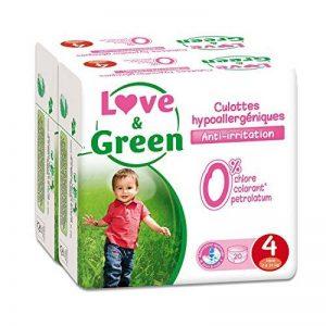 Love & Green - Pack de 20 Culottes Hypoallergéniques - Taille 4 (7-14 kg) - Lot de 2 de la marque Love-Green image 0 produit