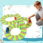 Magic Glow Track DNYCF Circuit Flexible (3.57 mètres) Jouet DIY Construction Magic Rails Fluorescents Toy Track avec 2 Voiture Race Car Game Cadeau pour Enfants 3 4 5 6+ de la marque DNYCF image 1 produit