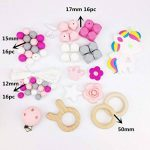 Mamimami Home DIY Nursing Necklace Teething Beads Silicone Bracelet Baby Teether Pacifier Clips Nurse Charms de la marque Mamimami Home image 2 produit