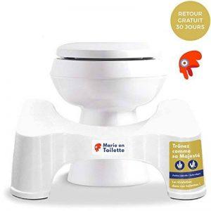 Marie en toilette - Tabouret de toilettes physiologique - Le marche pied WC recommandé par les médecins et les experts du bien-être pour une position de squatting naturelle, anti-constipation, anti-hémorroïdes, renforcement du périnée - Plastique durable image 0 produit
