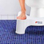 Marie en toilette - Tabouret de toilettes physiologique - Le marche pied WC recommandé par les médecins et les experts du bien-être pour une position de squatting naturelle, anti-constipation, anti-hémorroïdes, renforcement du périnée - Plastique durable image 1 produit