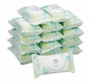 Marque Amazon - Mama Bear Fresh Lingettes parfumées pour bébé - Pack de 15 (840 lingettes) de la marque Mama-Bear image 0 produit