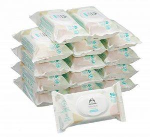 Marque Amazon - Mama Bear Sensitive Lingettes sans parfum pour bébé - Pack de 15 (840 lingettes) de la marque Mama-Bear image 0 produit
