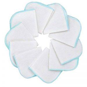 Mias Molleton flanelle gant de toilette, blancs, coton, non-toxiques/lingettes pour bébés/mouchoirs / serviettes tout usage de la marque Mias image 0 produit