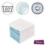 Mias Molleton flanelle gant de toilette, blancs, coton, non-toxiques/lingettes pour bébés/mouchoirs / serviettes tout usage de la marque Mias image 1 produit