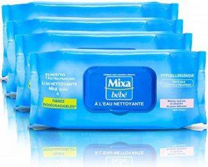 Mixa Bébé - Lingettes A L'eau Nettoyante - 288 Lingettes (4 lots de 72) de la marque Mixa image 0 produit