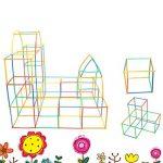 Naisicatar Blocs de Construction Bricolage Bâtons 4D Puzzle Jouet Educatif et Créatif pour Enfant Straw Building Blocks DIY Puzzle éducatifs Jouets ( 150 Bâtons + 150 Embouts ) X 1 de la marque Naisicatar image 1 produit