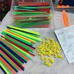 Naisicatar Blocs de Construction Bricolage Bâtons 4D Puzzle Jouet Educatif et Créatif pour Enfant Straw Building Blocks DIY Puzzle éducatifs Jouets ( 150 Bâtons + 150 Embouts ) X 1 de la marque Naisicatar image 2 produit