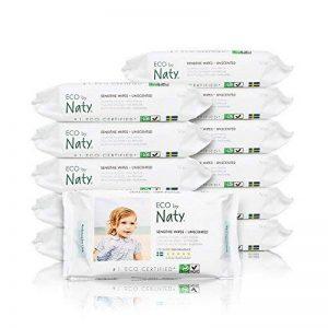Naty 12 Packs de 56 Lingettes Douces Ecologiques sans Parfum de la marque Naty-by-Nature-BabyCare image 0 produit