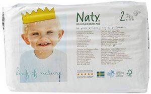 Naty by Nature Babycare Couches Écologiques Jetables Taille 2 Mini 3-6 kg - Pack de 4 x 34 Couches de la marque Naty by Nature BabyCare image 0 produit