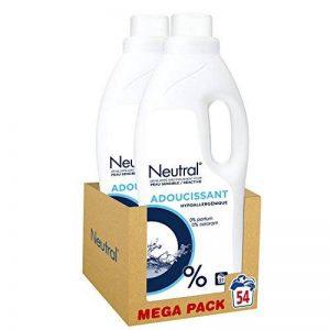 Neutral Adoucissant Hypoallergénique 0% Peaux Sensibles et Réactives 54 Lavages (Lot de 2x27 Lavages) de la marque Neutral image 0 produit