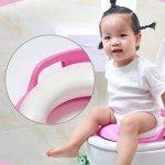 newin Star Siège de toilette, abattant wC pliable pour enfants, siège réducteur pour bébé, Toilet Trainer Seat Portable Adapté Pour La Plupart Des Tailles de toilettes (Rose) de la marque Newin Star image 2 produit