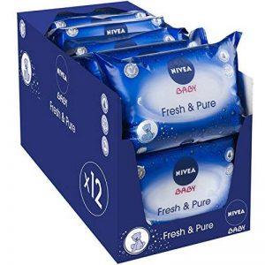 Nivea Baby Pure et Fresh 63 Lingettes Pack de 12 de la marque NIVEA BABY image 0 produit