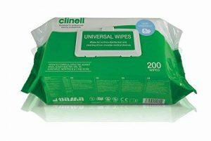 Nottingham Rehab Supplies Lot de 200 lingettes anti-bactériennes Clinell de la marque NRS Healthcare image 0 produit