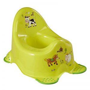 OKT Kids Pot Drôle de Formation de Toilette de Ferme Unisexe Avec Les Pieds de Poignée de Sécurité - Vert de la marque OKT Kids image 0 produit