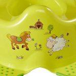 OKT Kids Pot Drôle de Formation de Toilette de Ferme Unisexe Avec Les Pieds de Poignée de Sécurité - Vert de la marque OKT Kids image 4 produit