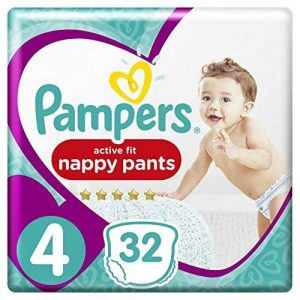 Pampers - Active Fit Pants - Couches-culottes Taille 4 (9-15 kg) - Pack Géant (x32 culottes) de la marque Pampers image 0 produit