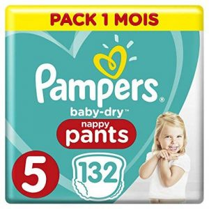 Pampers - Baby Dry Pants - Couches-culottes Taille 5 (12-17 kg) - Pack 1 mois (x132 culottes) de la marque Pampers image 0 produit