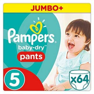 Pampers - Baby Dry Pants - Couches Taille 5 (12-18 kg/Junior) - Jumbo+ Pack (x64 culottes) de la marque Pampers image 0 produit