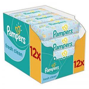 Pampers - Fresh Clean - Lingettes Bébé - Lot de 12 Paquets de 64 (x768 Lingettes) de la marque Pampers image 0 produit