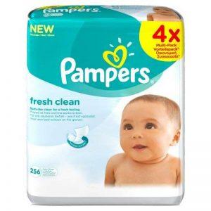 Pampers - Fresh Clean - Lingettes Bébé - Lot de 4 Paquets de 64 (x256 Lingettes) de la marque Pampers image 0 produit