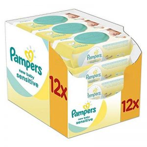 Pampers New Baby Wet Wipes Sensitive, paquet de 12 (12 x 50 pièces) de la marque Pampers image 0 produit