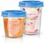 Philips Avent Pots de conservation 10x180 ml et 10x240 ml avec Couvercles associés et Cuillère de Sevrage de la marque Philips-AVENT image 1 produit