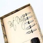 Plume d'oie Aolvo - Stylo à plume avec pot d'encre, support et pointe - Calligraphie antique - Stylo gravé - Rouge, Gradient Black, Taille unique de la marque Aolvo image 3 produit