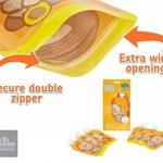 Pochette de bébé réutilisable Remplissez l'ouverture inférieure de Squeeze pour un nettoyage facile. 6 x 150 ml Gourdes Réutilisables Parfait pour le sevrage, le voyage, les fruits en purée, les aliments biologiques et maison, les yaourts, les fruits puré image 1 produit