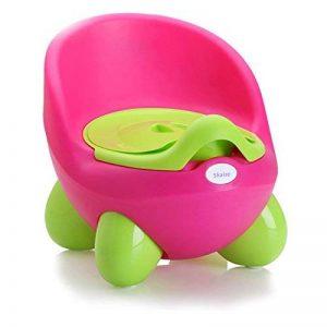 Pot Chaise de bébé Baby Siège de toilettes de Skaize | Design ergonomique en 2couleurs, pot amovible avec couvercle, Composition non–Sans Bisphénol A–Antidérapant d'apprentissage pour fille et garçon de la marque Skaize image 0 produit