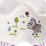 Pot d'apprentissage avec pattes anti-derapant motif Hippo blanc de la marque OKT image 4 produit