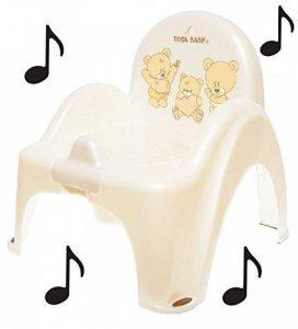 Pot de toilette musical pour bébé enfant fauteuil chaise couleur blanc perle avec thème Ours de la marque Tega Baby image 0 produit