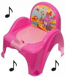 Pot de toilette musical pour bébé enfant fauteuil chaise couleur rose avec thème animaux Safari de la marque Tega Baby image 0 produit