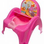Pot de toilette musical pour bébé enfant fauteuil chaise couleur rose avec thème animaux Safari de la marque Tega Baby image 1 produit