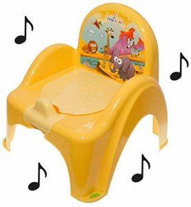 Pot de toilette musical pour bébé enfant fauteuil chaise thème Animaux Safari couleur jaune de la marque Tega image 0 produit