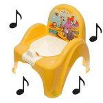 Pot de toilette musical pour bébé enfant fauteuil chaise thème Animaux Safari couleur jaune de la marque Tega image 1 produit