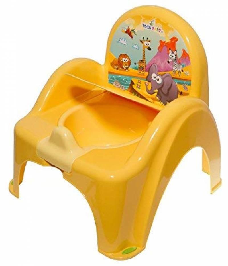 Pot de toilette musical pour b/éb/é enfant fauteuil chaise couleur blanc perle avec th/ème Ours
