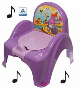 Pot de toilette musical pour bébé enfant fauteuil chaise thème animaux Safari couleur Violet de la marque Tega image 0 produit
